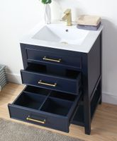 """24 inch Small Bathroom Vanity Navy Blue with Storage (24""""Wx18.5""""Dx35""""H) CF2822V24NB"""