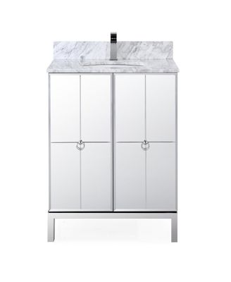 """26 inch French Inspired Mirrored Bathroom Vanity Design (26""""Wx22""""Dx35''H) CHF008"""