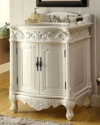 """27 inch Bathroom Vanity Traditional Style Antique White (27""""Wx21""""Dx33.5""""H) CBC2917WAW27"""