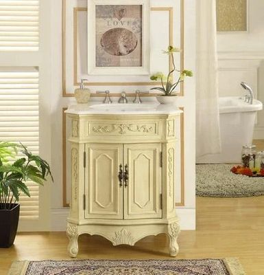 """27 inch Bathroom Vanity Traditional Style Beige Color (26.5""""Wx21.5""""Dx33""""H) CHF3305WLT27"""