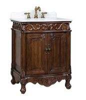 "27 inch Bathroom Vanity Traditional Style Medium Brown Color (27""Wx21""Dx33.5""H) CBC2917WTK27"