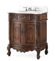 "31 inch Bathroom Vanity Traditional Style Cherry Color (30.75""Wx20.5""Dx36.5""H) CHF080WTK"