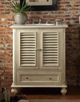 """30 inch Bathroom Vanity Cottage Beach Style Light Beige Color (30""""Wx22""""Dx36""""H) CHF087P"""