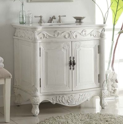 """32 inch Bathroom Vanity Traditional Style Antique white (31.5""""Wx22""""Dx34""""H) CCF2873WAW"""