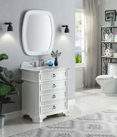 """32 inch Bathroom Vanity 3 Drawers Coastal Cottage Beach Style White Color (32""""Wx21""""Dx36.5""""H) CGD2033WC"""