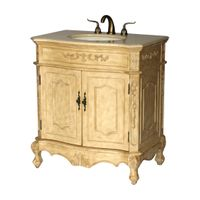 "32 inch Bathroom Vanity Traditional Style Antique Beige Color (32""Wx21""Dx36""H) S190532B"