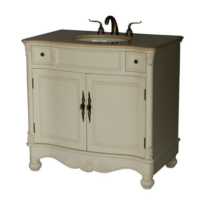 """36 inch Bathroom Vanity Traditional Classic Style Antique White (36""""Wx21.5""""Dx36""""H) S2615261BE"""