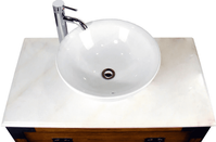 "36 inch Bathroom Vanity Vessel Sink Top Plantation Style Medium Brown (36""Wx22""Dx32""H) CCF35535"