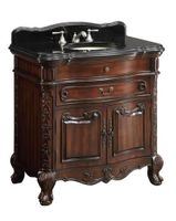 "36 inch bathroom Vanity Queen Anne Style Mahogany (36""Wx22""Dx36""H) CS01GT36"