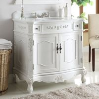 "36 inch Bathroom Vanity Traditional Style Antique White Finish (36x21x35""H) CBC3905WAW36"