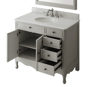 "38 inch Bathroom Vanity Distressed Vintage Gray Color with 3 Drawers (38""Wx21""Dx35""H) CHF837CK"