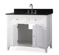 """42 inch Bathroom Vanity Beadboard Casual Style White Color (42'Wx21""""Dx37""""H) CCF47532GT"""