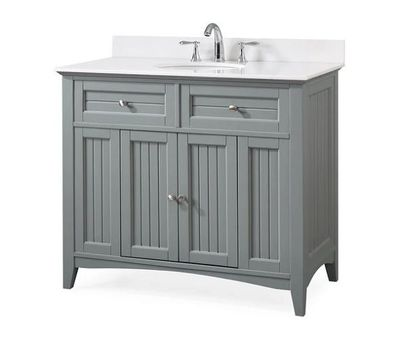 "42 inch Bathroom Vanity Casual Style Gray Color (42'Wx21""Dx37""H) CGD47539CK42"