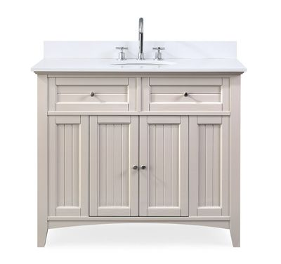 """42 inch Bathroom Vanity Casual Style Taupe Color (42'Wx21""""Dx37""""H) CGD47538TP"""