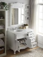 """42 inch Bathroom Vanity Cottage Beadboard Style White Color (42""""Wx21""""Dx35""""H) CGD1509W42C"""