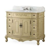 "42"" inch Bathroom Vanity Classic Traditional Creamy Beige Color (42""Wx21""Dx35""H) CBC3905WLT42"