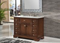 "46 inch Single Sink Bathroom Vanity Shaker Style Brown Color (46""Wx21""Dx35""H) S2422SK"