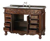 """48 inch Single Sink Antique Style Bathroom Vanity Walnut Finish (48""""Wx20""""Dx36""""H) S3169BN FREE SHIPPING"""