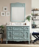 """48 inch Bathroom Vanity Victorian Cottage Blue (48""""Wx21""""Dx35""""H) CGD1522BU48 FREE SHIPPING"""