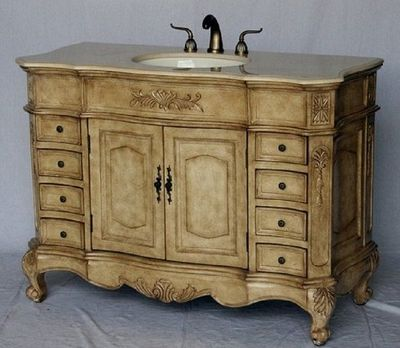 """48""""W x 22""""D x 36""""H Antique Beige S2815485BE FREE SHIPPING"""