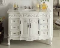 """48"""" inch Bathroom Vanity Single Sink Classic Style Antique White Finish (48""""Wx22""""Dx36""""H) CSW3882WAW48"""
