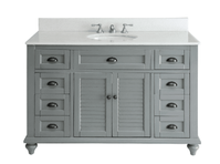 "49 inch Bathroom Vanity Cottage Beach Style Gray Color (49""Wx22""Dx35""H) CGD28329CKC"