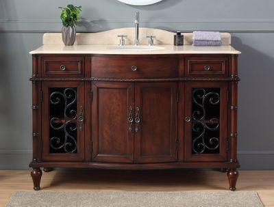 53 inch Bathroom Vanity with Decorative Cast Iron CK3303M53 FREE SHIPPING