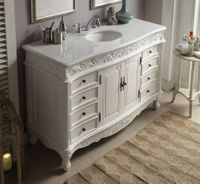 """56 inch Antique White Bathroom Vanity (56""""Wx22""""Dx36""""H) CCF3882WAW56 FREE SHIPPING"""