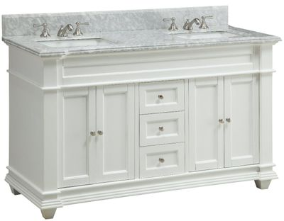 "60 inch Bathroom Vanity Cottage Shaker Beach Style White Color (60""Wx22""Dx36""H) CHF085"