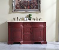 """60 inch Double Sink Bathroom Vanity Cherry Color (60""""Wx21""""Dx35""""H) S6060F FREE SHIPPING"""