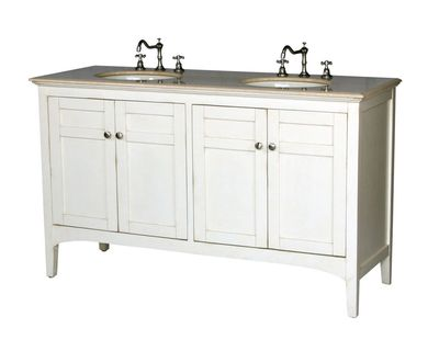 """60 inch Double Sink Bathroom Vanity Beige (60""""Wx21""""Dx36""""H) S2412261BE FREE SHIPPING"""