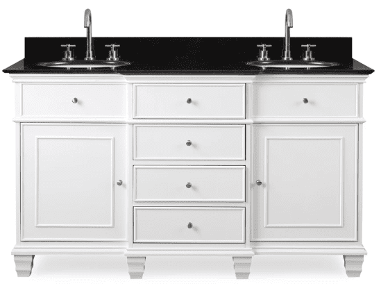 48 Inch Bath Vanity, 60 Inch Double Sink Bathroom Vanity American Transitional White 60 Wx22 Dx36 H Ccf64601gt