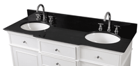 """60 inch Double Sink Bathroom Vanity American Transitional White (60""""Wx22""""Dx36""""H) CHCF64601GT"""