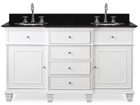 "60 inch Double Sink Bathroom Vanity American Transitional White (60""Wx22""Dx36""H) CHCF64601GT"