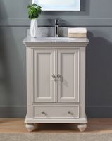 """25 inch Small Size Bathroom Vanity Taupe Color Gray Granite Countertop (25""""Wx21.5""""Dx34.75""""H) CF9805TP"""