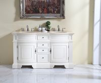 """60 inch Double Sink Bathroom Vanity Beige Color (60""""Wx21""""Dx35""""H) S6060261 FREE SHIPPING"""