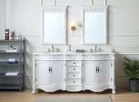 """72 inch Double Sink Bathroom Vanity Antique White Color (72""""Wx22""""Dx36""""H) CCF3882WAW72"""
