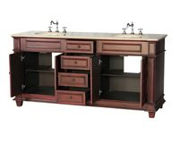 "72 inch Double Sink Bathroom Vanity Cherry Color (72""Wx22""Dx36""H) S2503505BE"