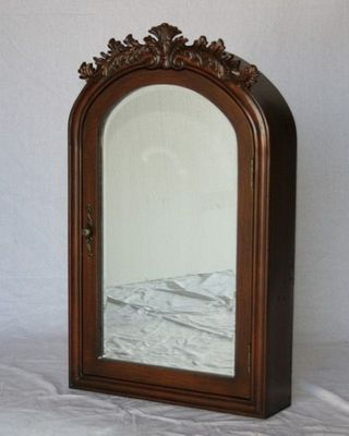 """Mirrored Medicine Cabinet 22""""W x 6""""D x 36""""H Walnut Color S2221CH FREE SHIPPING"""