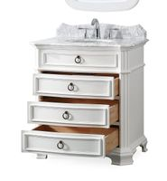 """32 inch Bathroom Vanity 3 Drawers Cottage Style White Color (32""""Wx21""""Dx36.5""""H) CGD2033W"""