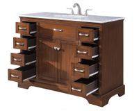 """46 inch Bathroom Vanity Cottage Beach Style Brown Color (46""""Wx21""""Dx35""""H) S2422SKC"""