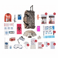 2 Person Deluxe Survival Kit (72+ Hours) Wheel Bag