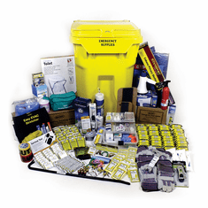 20 Person  Deluxe Commercial Disaster Emergency Response Kit on WHEELS