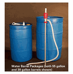 30 Gallon Water Barrel Package Complete