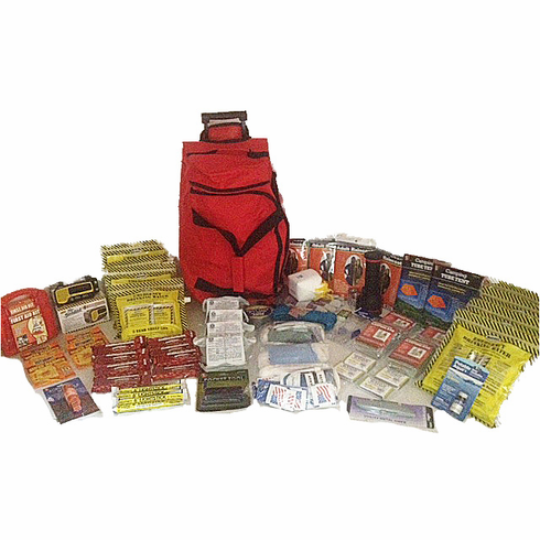 4 Person CODE RED  Go-Bag Essentials Emergency Survival Kit