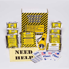 Basic 3-Day Kit with Flashlight and First-Aid Kit