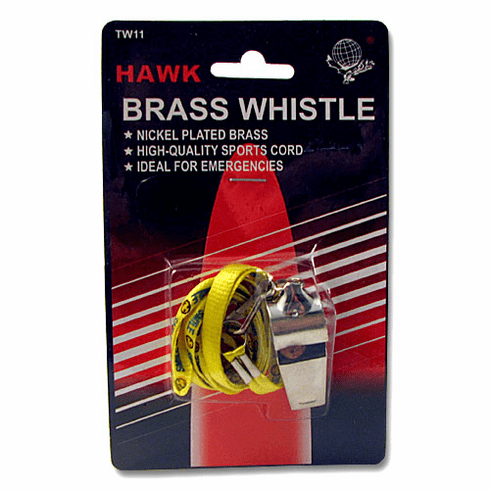 Brass Whistle with Landyard