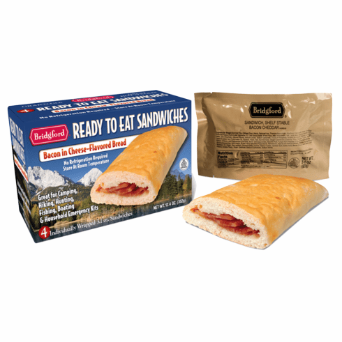 Bridgford Bacon and Cheese Flavored Bread Sandwiches (case 48)