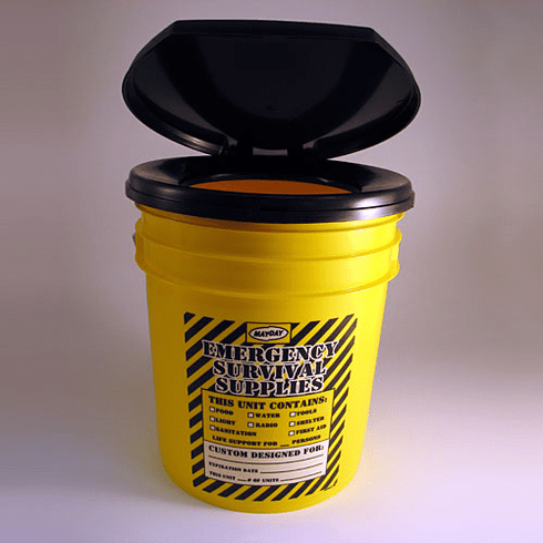 Build Your Survival Kit  (Honey Bucket) Port-A-Pottie