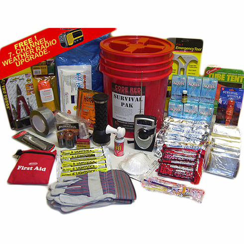 Code Red 3- Person Emergency Survival Kit (Resealable Bucket)
